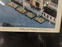 Lot 138: Maxwell Mays Signed/Num. Winter Scene Print
