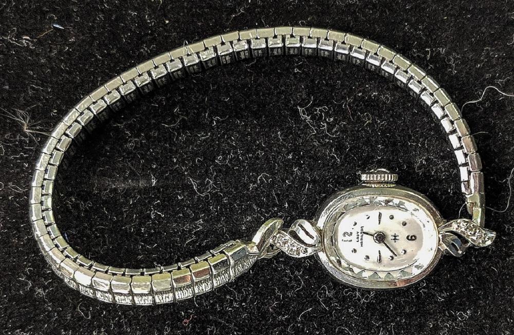 Hamilton 14K Gold Watch w/ Diamonds