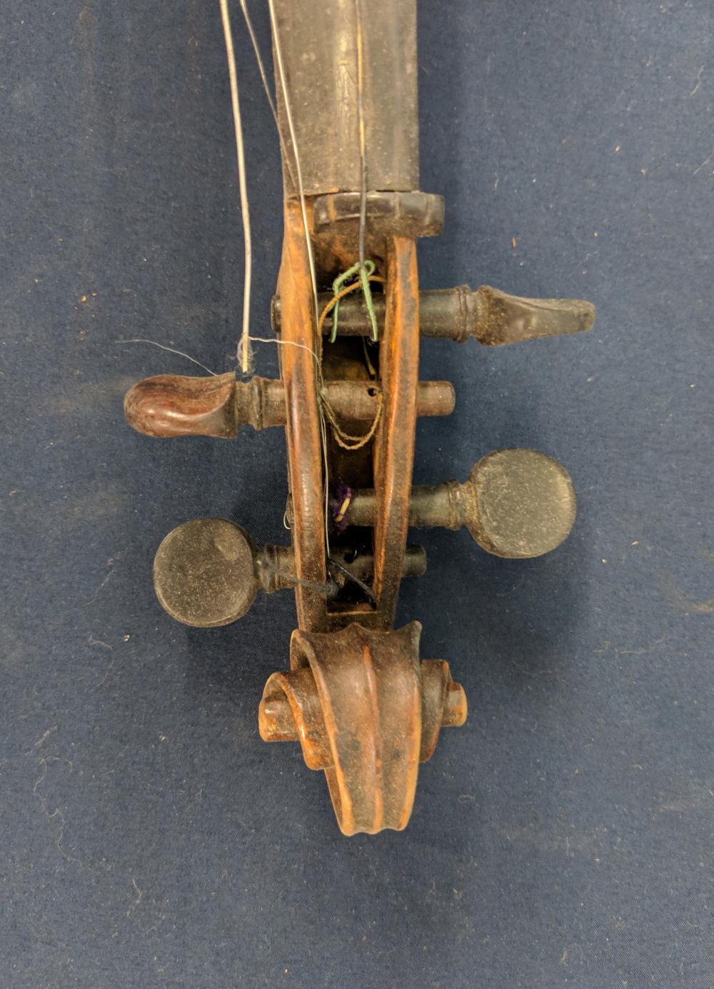 Lot 66: Antique Violin w/ Case & Bow