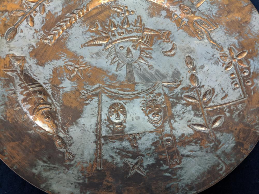 Lot 60B: Copper Platter Wall Hanger