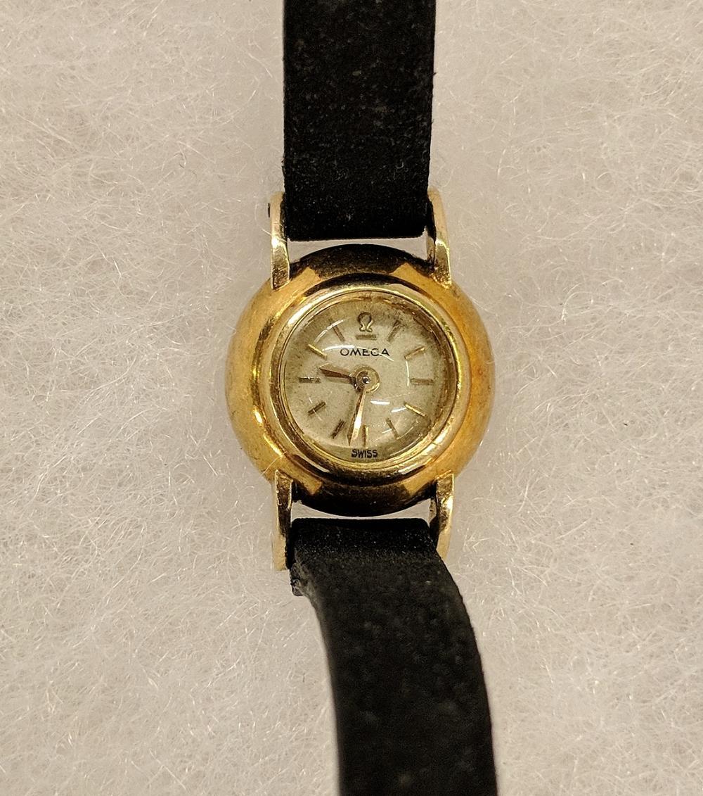 Lot 34A: 14K Gold Omega Watch
