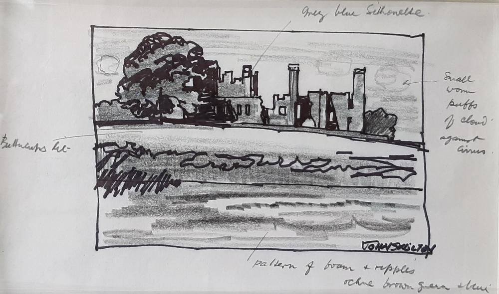 John Skelton (Snr) - Study of Castle and Grounds