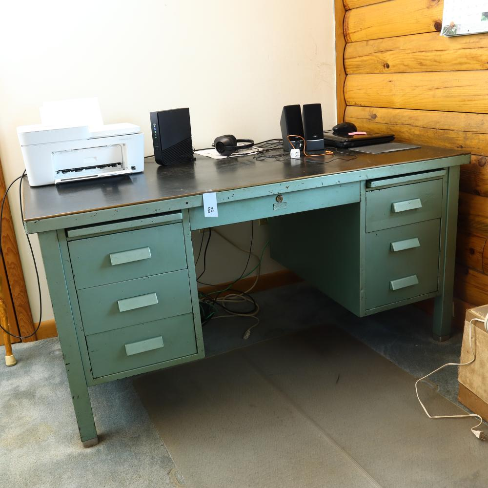 Allsteel desk Mid Century Modern retro made by The General Fireproofing Co. Youngstown, Ohio, made in USA