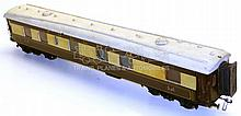O-gauge scratch-built wooden Pullman Coach