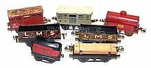 Seven Hornby O-gauge Wagons