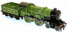 Hornby Series O-gauge clockwork 4-4-0 Locomotive & Tender