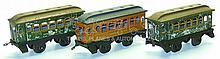 Three Bing O-gauge Pullman Coaches