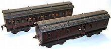 Two Marklin 1-gauge Midland Bogie Passenger Coaches