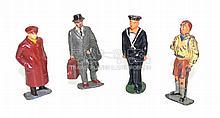 Four Timpo Railway Figures