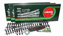 Three Marklin 1-gauge Electric Points