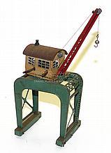 Rare early Marklin HO small manual Dockside Crane