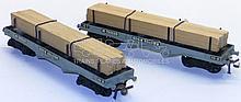 Two Hornby Dublo bogie Bolster Wagons
