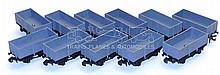 Eleven Hornby Dublo plastic Open Wagons