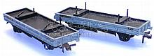 Two Hornby Dublo 4-wheel Bolster Wagons