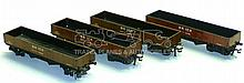 Four Hornby Dublo Brick Wagons