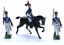 Three English diecast Figures