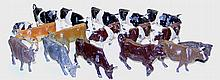 Seventeen Britains Cow and Bull Figures