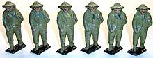Six diecast Soldiers.