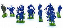 Fourteen plastic Military Figures