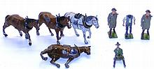 Eight mostly Britains diecast Figures