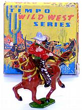 Timpo WW2011 diecast Cowboy with Rifle on Horse