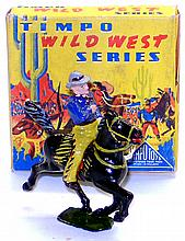 Timpo WW2004 diecast Cowboy with Lasso on Horse