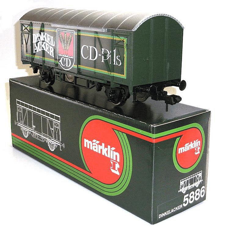 Marklin 1-gauge  No. 5886 'Dinkelacker' 4-wheel Van