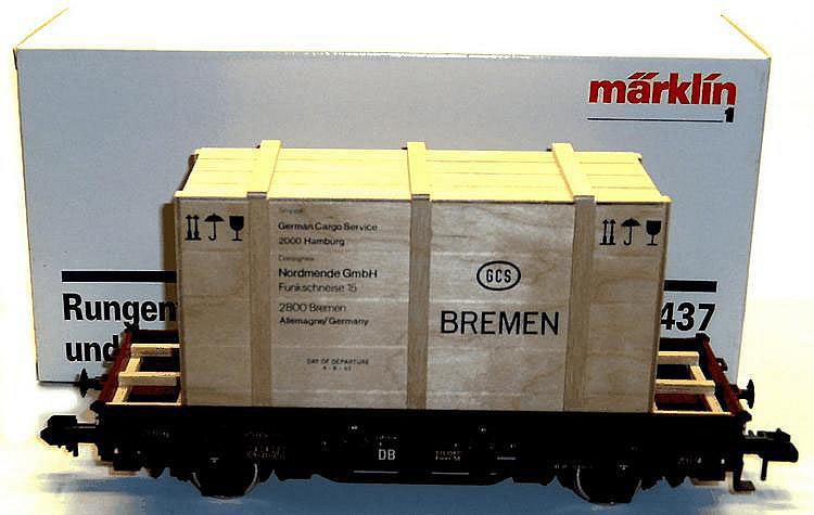 Marklin 1-gauge 5437 4-wheel Low Side Wagon