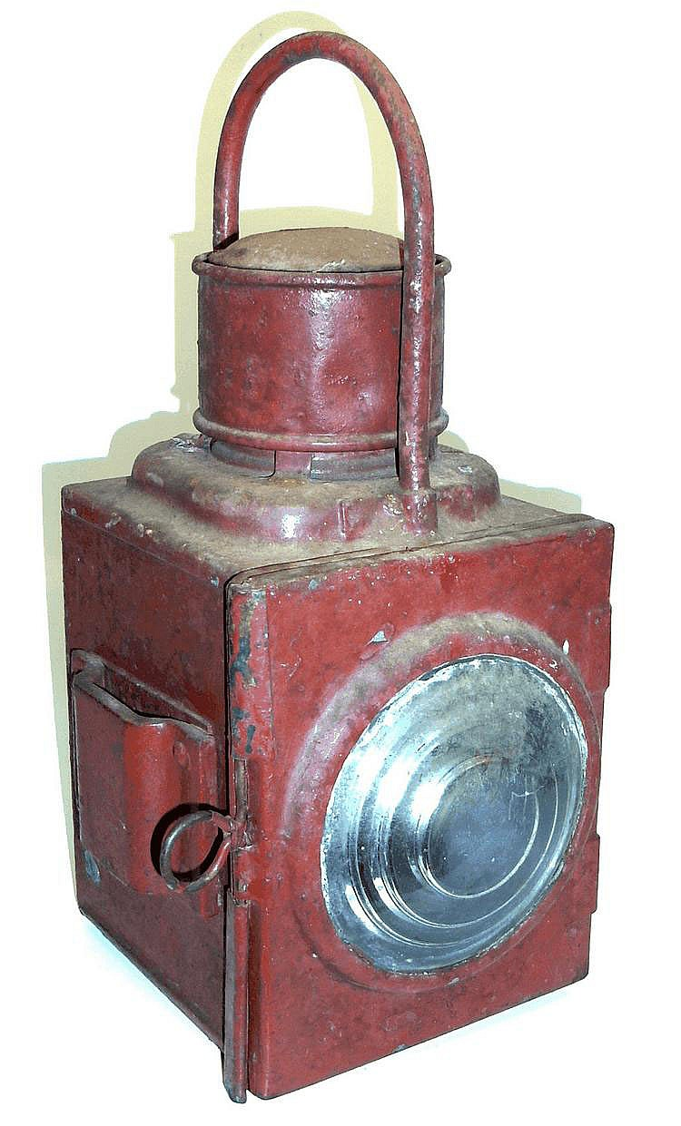 Kerosene Railway Lamp with Red Filter