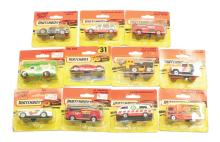 Eleven modern Matchbox Vehicles