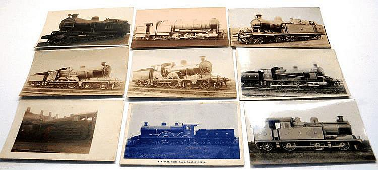 Selection of ten railway related postcards