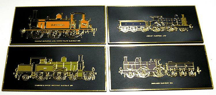 Set of four Frank Down Ltd Wall Plaques