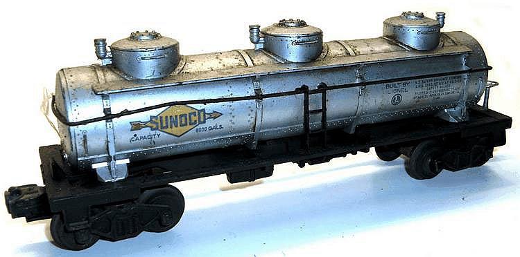 Lionel O-gauge Bogie Tanker, 'Sunoco'