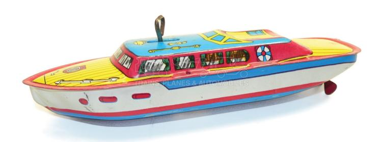 Chein tinplate clockwork Boat