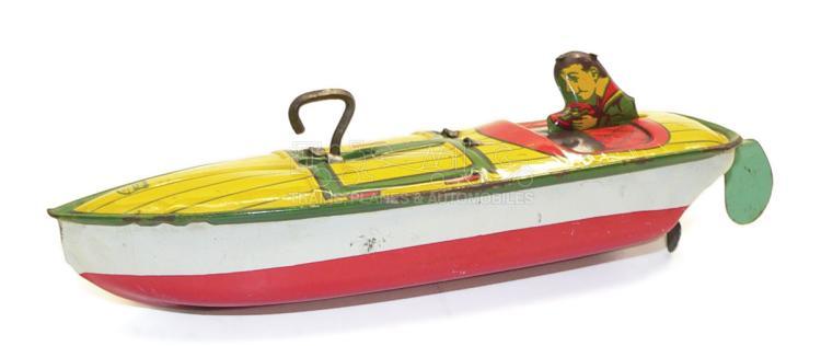 Chein tinplate clockwork Speed Boat