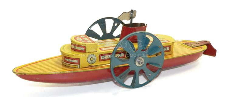 English tinplate clockwork Paddle Boat