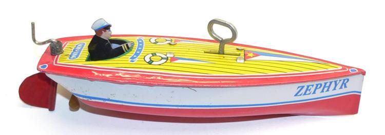 Schylling tinplate clockwork Speed Boat