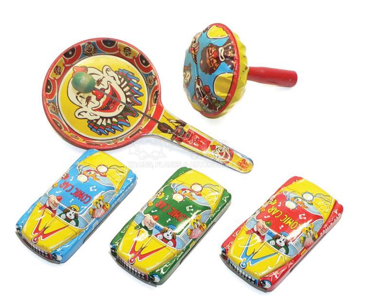 Five tinplate Toys