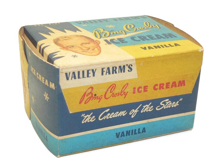 Valley Farm's Bing Crosby Vanilla Ice Cream EMPTY BOX