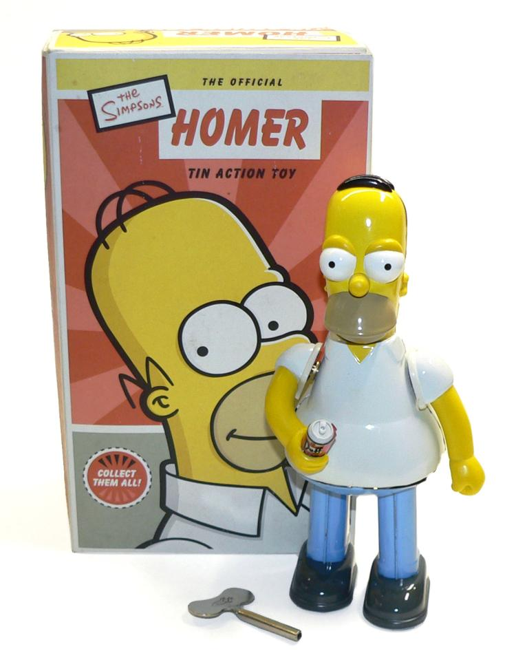 Rocket USA tinplate clockwork Homer Simpson Figure