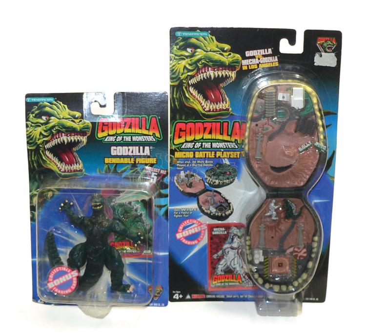Two Trendmasters Godzilla Items