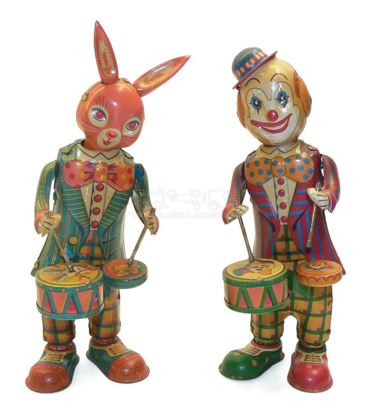 Two tinplate clockwork Toys