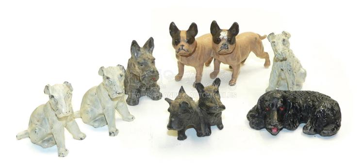 Eight diecast Dogs