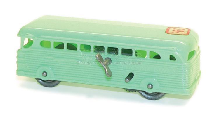 Small plastic clockwork Bus