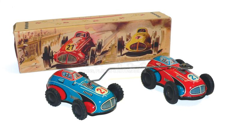 Niedermeier No. 260 tinplate clockwork pair of Racing Cars
