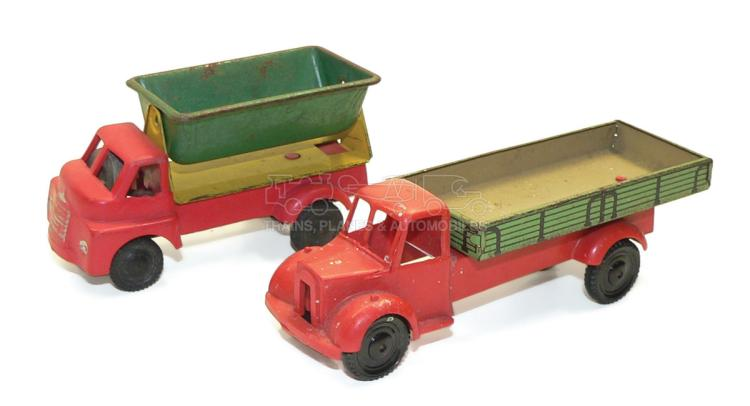 Two plastic & tinplate Vehicles