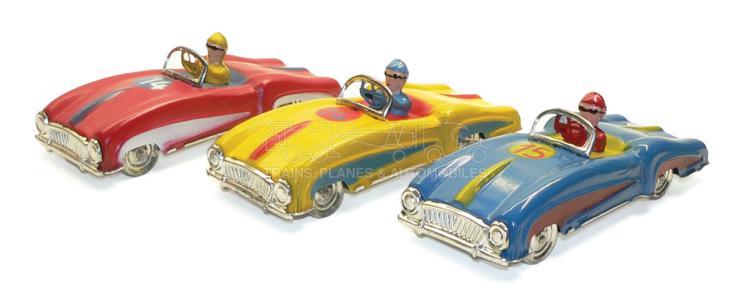 Three Portuguese aluminium racing Cars