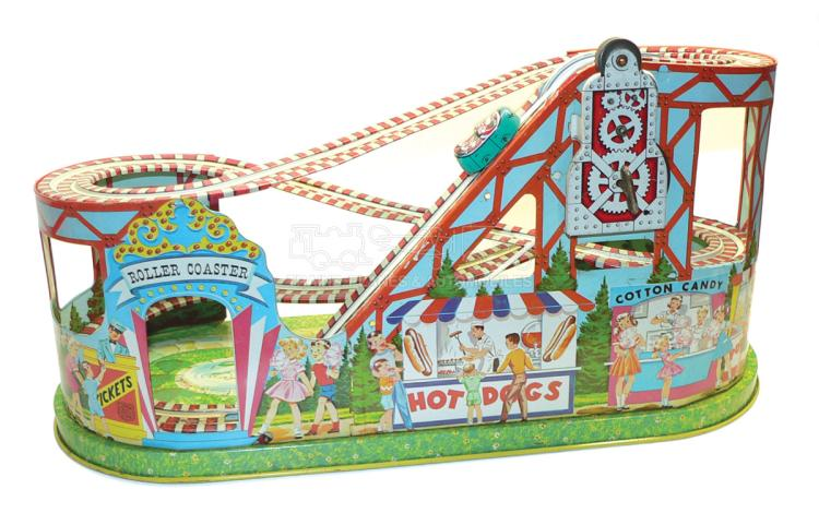 J. Chein tinplate clockwork Roller Coaster