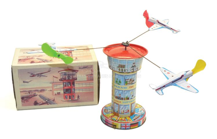 Schopper 5100 tinplate clockwork Aeroplane Tower