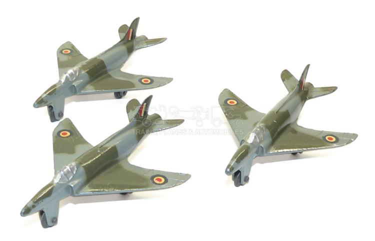 Three Dinky 734 Supermarine Swift Fighter Planes